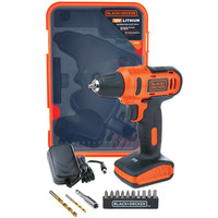 Black&Decker Cordless  Driver Dill 12V+13Pcs Accessories Box