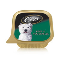Cesar® Beef and Vegetables Wet Dog Food Foil Tray 100g