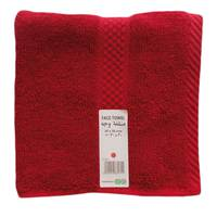Tendance's Face Towel 30x30cm Dark red