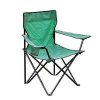 كرسي تخييم قابل للطي 50 × 50 × 80 سم لون أخضر