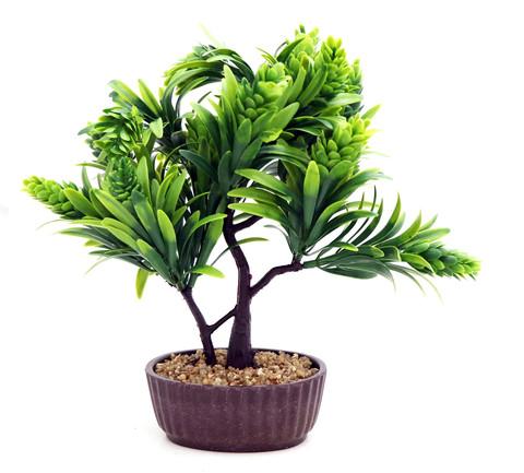 Artificial-Flower-Pot--Brown