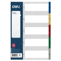 Deli Pp Index Dividers A4 1-5
