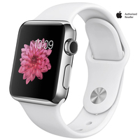 Apple Watch Series 1 38mm Stainless Steel Case With White Sport Band