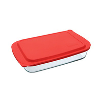 Marinex Deep Rectangular Baking Dish With Collapsible Lid 5.25L