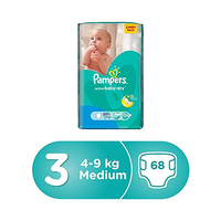 Pampers Diapers Active Baby Midi Jumbo Pack Size 3 68 Pieces