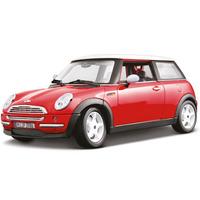 Burago 1/18 Scale Diecast -Mini Cooper Red White Car