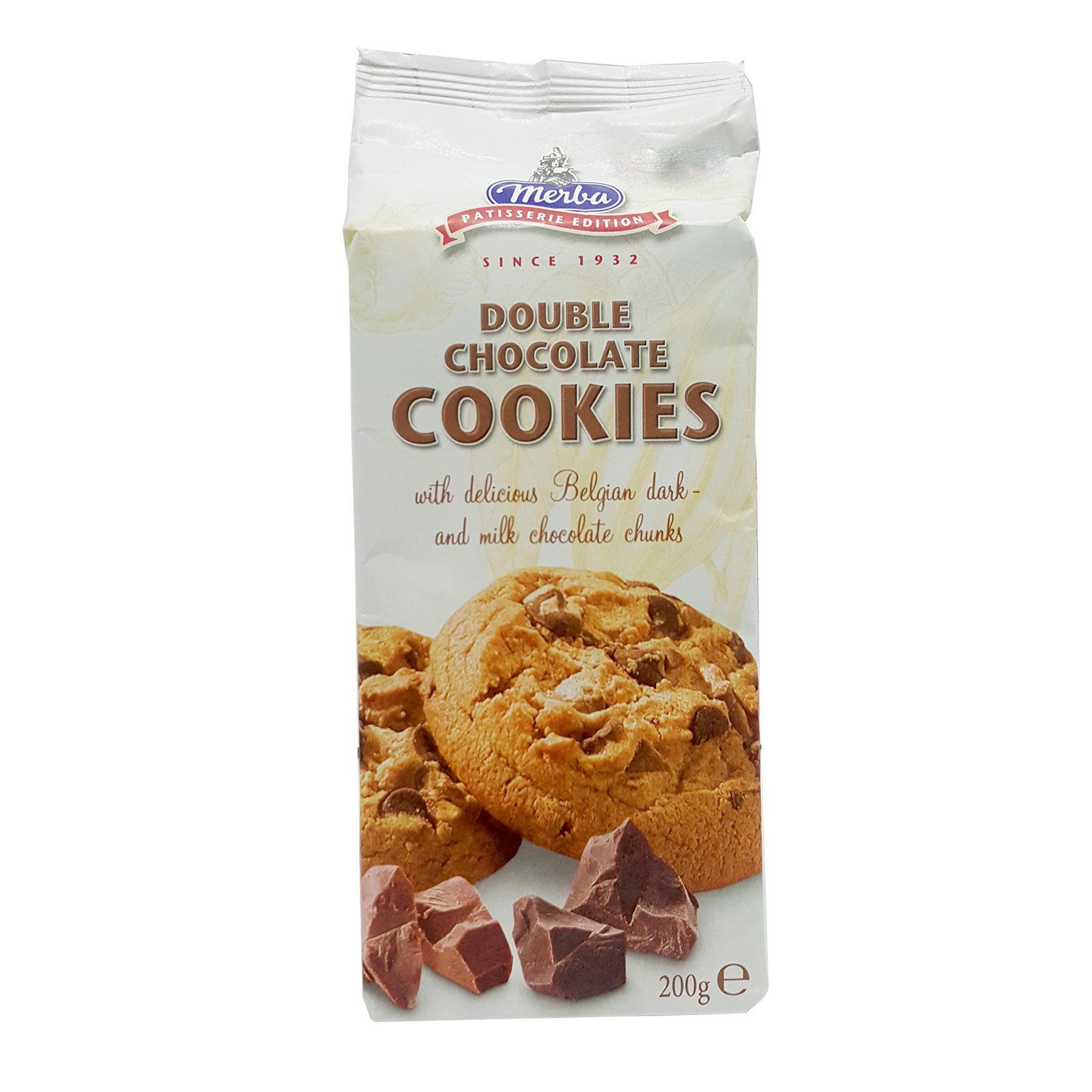 MERBA DOUBLE CHOCO COOKIES 200GR