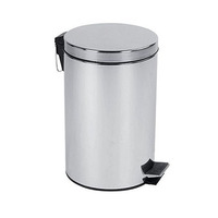 Stainless Steel Dustbin Mut Finish 12L