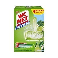 WC Net Intense Rim Cleaner Fresh Scent 4 Green Blocks