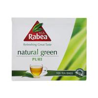 Rabea Tea Pure Natural Green Tea Bags 100's