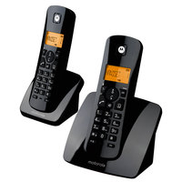 Motorola Cordless Phone C402 Twin Black