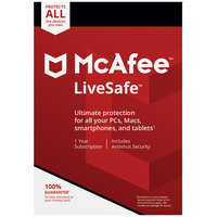 McAfee LiveSafe 2018 Unlimited Device