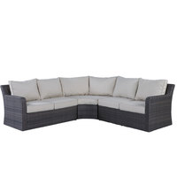 Ariss Wicker Corner Set 3Pcs With Cushions (Delivered within 7 business days)