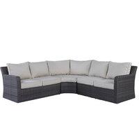 Ariss Wicker Corner Set 3Pcs With Cushions