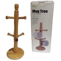 Wooden Mug Tree 12Cm