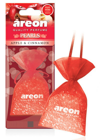 Areon Air Freshener Cardboard Car Apple And Cinnamon Pearls