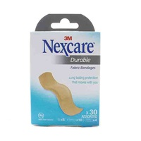 Nexcare Bandages Durable Fabric Assorted 30 Pieces