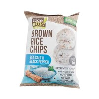Rice Up Gluten Free Brown Rice Chips Sea Salt And Black Pepper 25 Gram