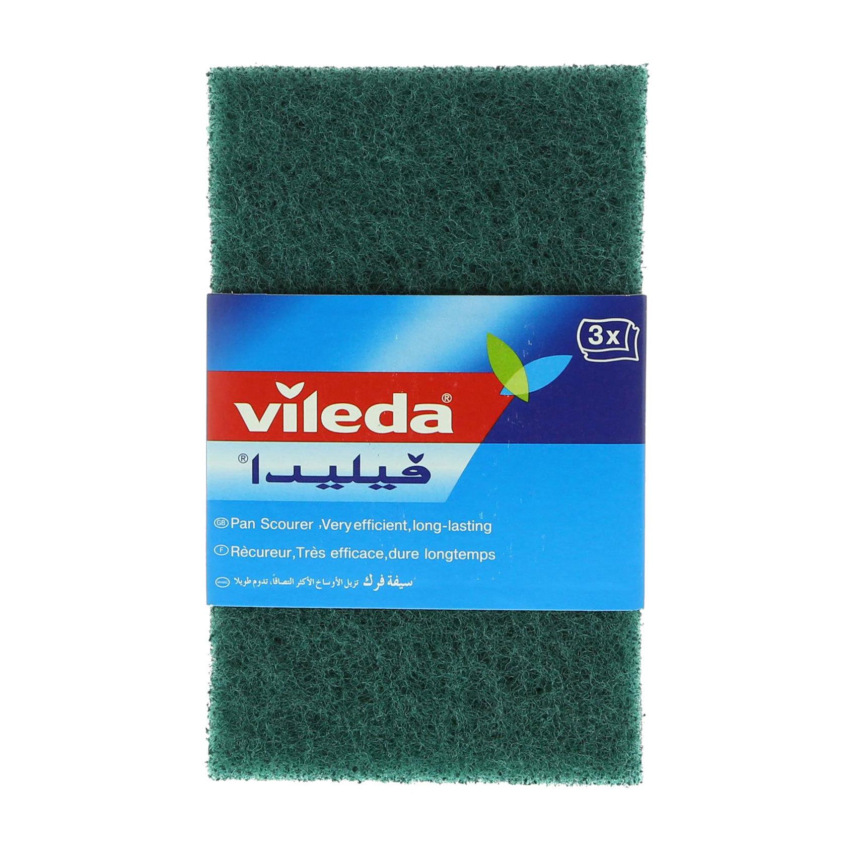 VILEDA SCOURING PAD X 3 PAN