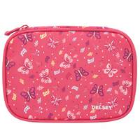Delsey School 2018 Large Pencil Box Peony Butterfly