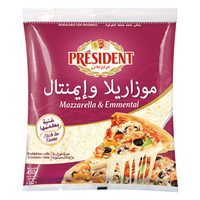 Président Mozzarella & Emmental Cheese 450g