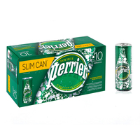 Perrier Natural Sparkling Mineral Water Can 10x250ml