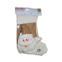 Christmas Santa White Stocking 50.8CM