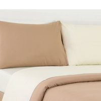 Tendance Full Comforter 4pc Set Cream/Beige