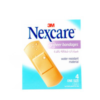 Nexcare Sheer Bandages One Size 4 Bandages