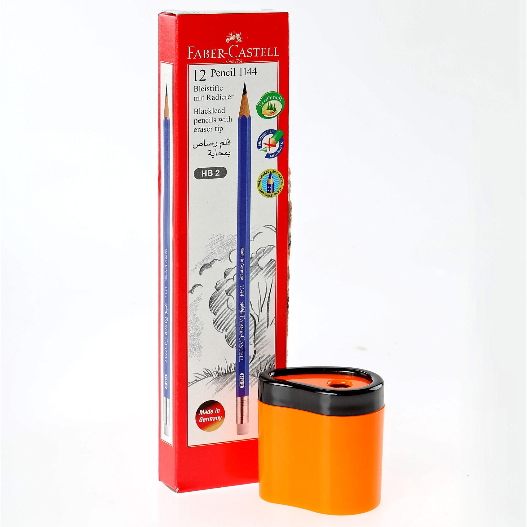FC BLACK LED PENCIL12'S+SHARPENER