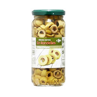 Carrefoour Green Olive In Slice 244ML