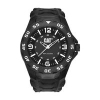 CAT Men's Watch Motion Analog Black Dial Black Fabric / Rubber Band 42.5mm  Case