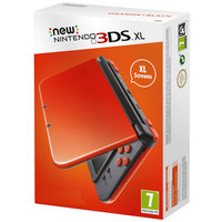 Nintendo New 3DSXL Console Orange/Black+1 Assorted Game