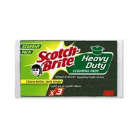 Scotch Brite Heavy Duty Brite Scouring Pads X3