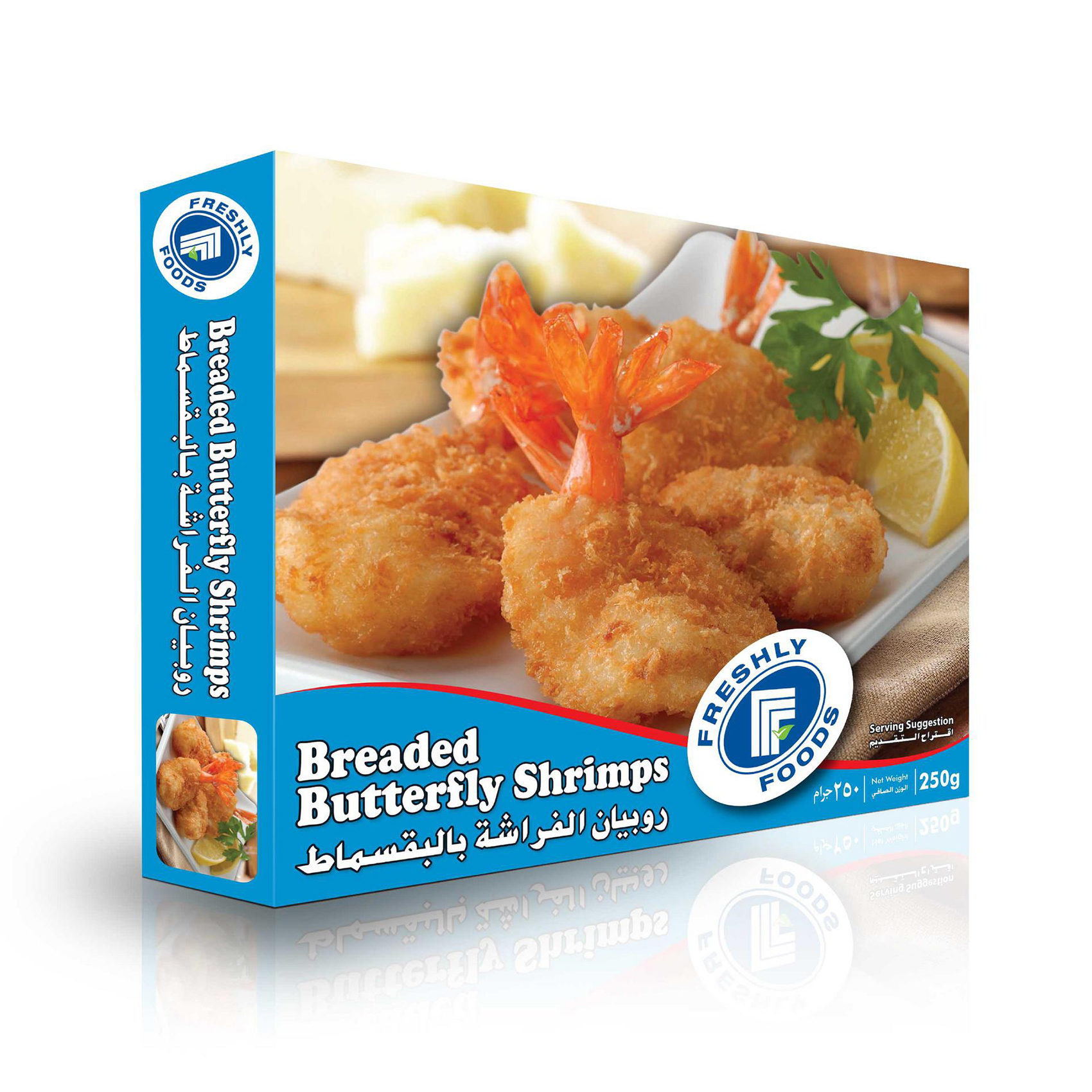 FFF BREADED B/FLY SHRIMPS 25OG