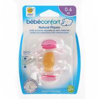 Bebeconfort Classic Physiological Dummies Natural Rubber (6 -18M) x2