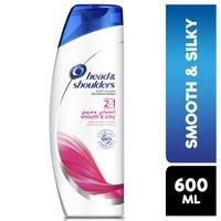 Head & Shoulders Smooth and Silky 2in1 Anti-Dandruff Shampoo 600ml