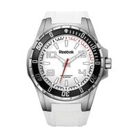 Reebok Men's Watch Ultimate Strike Analog White Dial White Silicon Band 51mm  Case