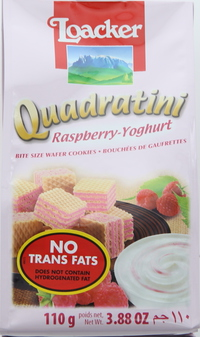 Loacker Quadratini Raspberry Yoghurt Wafers 110g
