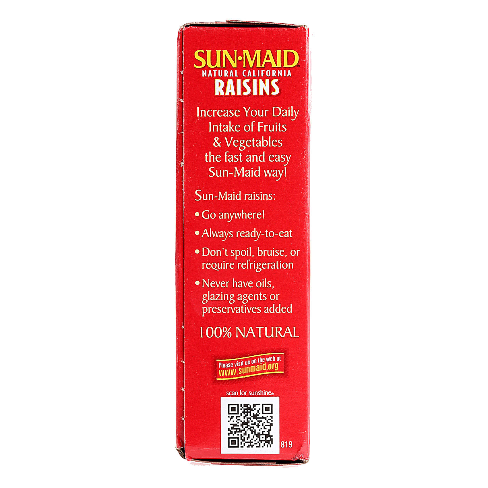 SUNMAID RAISINS CALIFORNIA 250G