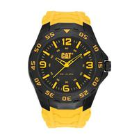 CAT Men's Watch Motion Analog Black Dial Yellow Fabric / Rubber Band 42.5mm  Case