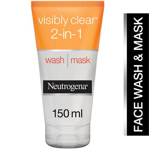 Neutrogena-Facial-Wash-Visibly-Clear-2-in-1-Wash-Mask-150ml
