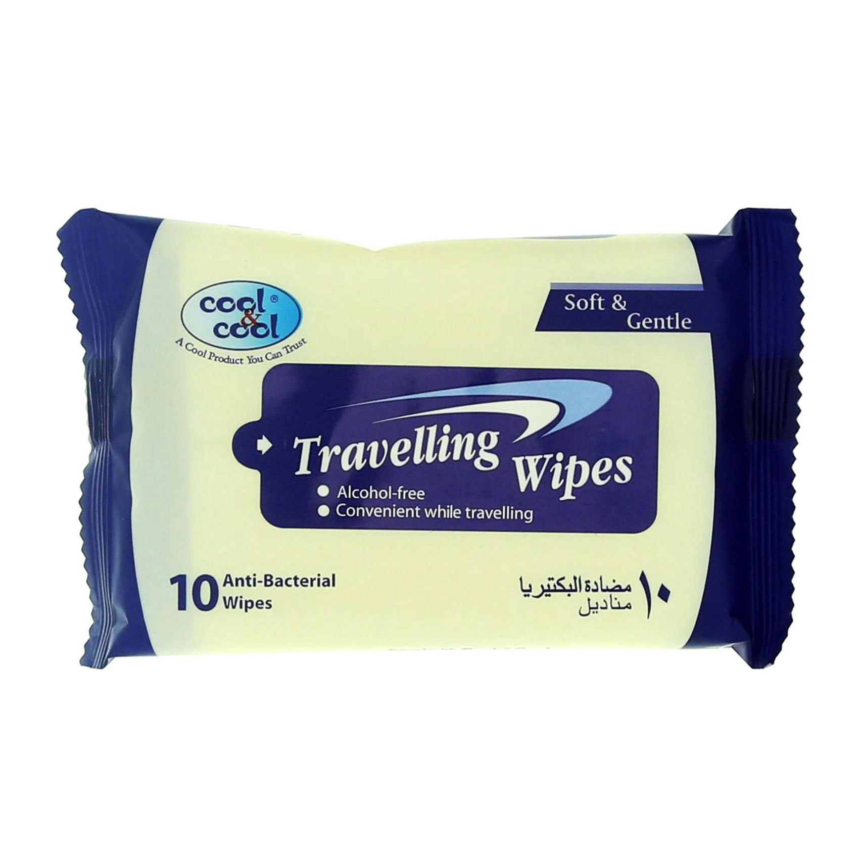 COOL&COOL TRAVELLING WIPES 10'S