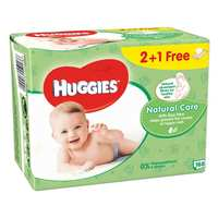 Huggies Baby Wipes Natural Care 56 Wipes 3 Pieces