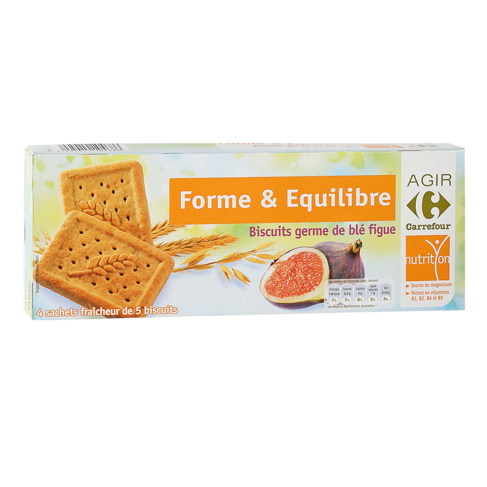 CRF WHEAT GERM & FIG BISCUITS 200G