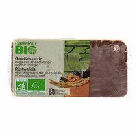 Carrefour Bio Organic Bio Rice Biscuit with Dark Chocolate and Orange 90g