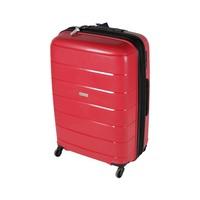 ترافل هاوس حقيبة سفر خامة صلبة من البولي بروبلين مقاس 28 إنش لون أحمر