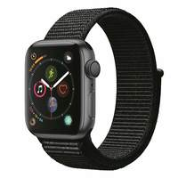 Apple Watch Series-4 GPS + Cellular 44mm Space Grey Aluminium Case with Black Sport Loop (MTVV2AE/A)