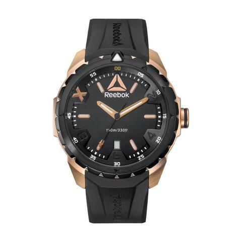 b03b0a858181 Buy Reebok Men  39 s Watch Impact Analog Black Dial Black Silicon ...