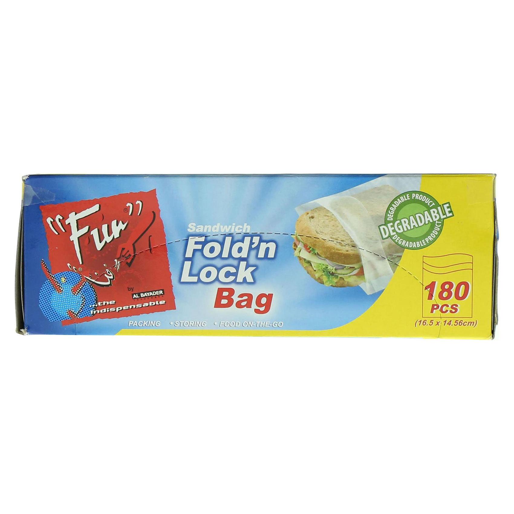 FUN FOLD'N LOCK BAGS 16.5X14.56CM